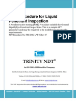Liquid Dye Penetrant Test Inspection NDT Sample Procedure