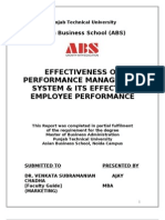 Effectiveness of - Performance Management System and Its Effect on Employee Performance