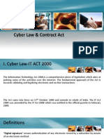 Cyber Law & Contract Act Presentation