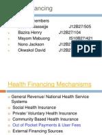 Health Financing Mechanisms