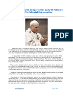 Pope John Paul II Supports Our Lady Of Fatima's Call To Collegial Consecration