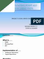Floating Point ALU Using VHDL Blue