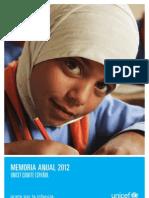 UNICEF España (Memoria 2012)