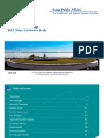 Thunder Bay 2013 Citizen Satisfaction Survey Results
