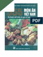 555 món ăn Việt Nam. Kỹ thuật chế biến và giá trị dinh dưỡng