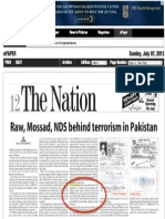 ISI-sponsored op-ed in Pakistani newspaper accuses Tarek Fatah of being a RAW agent