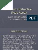 Ppt Childhood Sleep Apnea