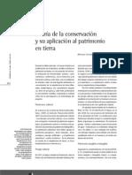 Mariana Correia - Teoria de la Conservación y su aplicación al patrimonio en tierra