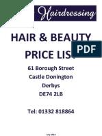 Price List 0713