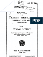 1918 War Department Document No 817 Manual for Trench Artillery United States Army Provisional Part I Trench Artillery