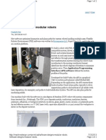 Software Designs Modular Robotics - FRE