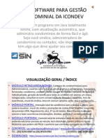 PDF - SIN – APRESENTAÇÃO SOFTWARE PARA GESTÃO CONDOMINIAL