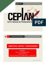 Objetivos, Metas e Indicadores - Luis Bedregal