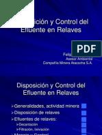 Disposición y Control del Efluente en Relaves