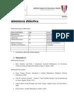 Tabela - Biblioteca didáctica - 2013 -JG