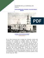 HISTORIA E IMÁGENES DE LA CATEDRAL DE CULIACÁN SINALOA