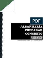 Albañilería - Preparar concreto (SENCICO)