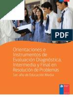 Orientaciones e Instrumentos Resolución de Problemas 1 Medio