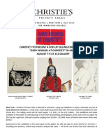 Andy Warhol at Christie's - Aspen Pop-Up Exhibition - August 7-9