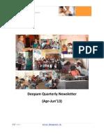 Deepam Newsletter Apr-Jun 2013