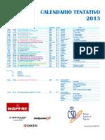 Calendario Padel Espana 2013