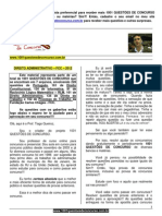 1-7) 1001 QUESTÕES DE CONCURSO - DIREITO ADMINISTRATIVO - FCC - 2012