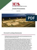 Investor Presentation June 2013 CXW
