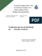Relatório 5 Lei de Kirchhoff