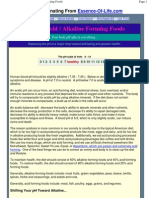 Detailed Listing of Acid _ Alkaline Forming Foods