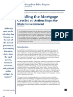 Tackling Mortgage Crisis by the State Government