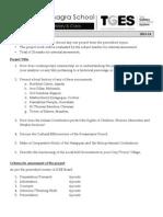 Std 9 Hist Project Details 2013-14