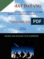 Aplikasi Sistem koordinat Benda langit