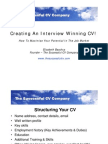 Ican Uk 270810 Session - A Winning CV