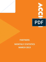 Monthly Statistics Accion Partners March 2013