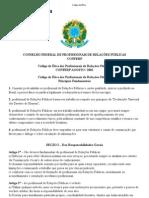 Código de Ética do Profissional de Relações Públicas