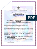 Call for Papers for Conference on Vedic Maths
