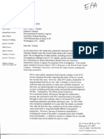 9/11 Commission Request for Copy of EPA Inspector General's Report about Ground Zero Air Quality
