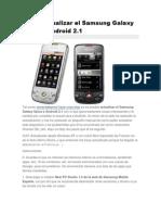Como Actualizar El Samsung Galaxy Spica a Android 2