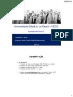 Disciplina de LIBRAS 1 a 6 2013.1.Parte PDF