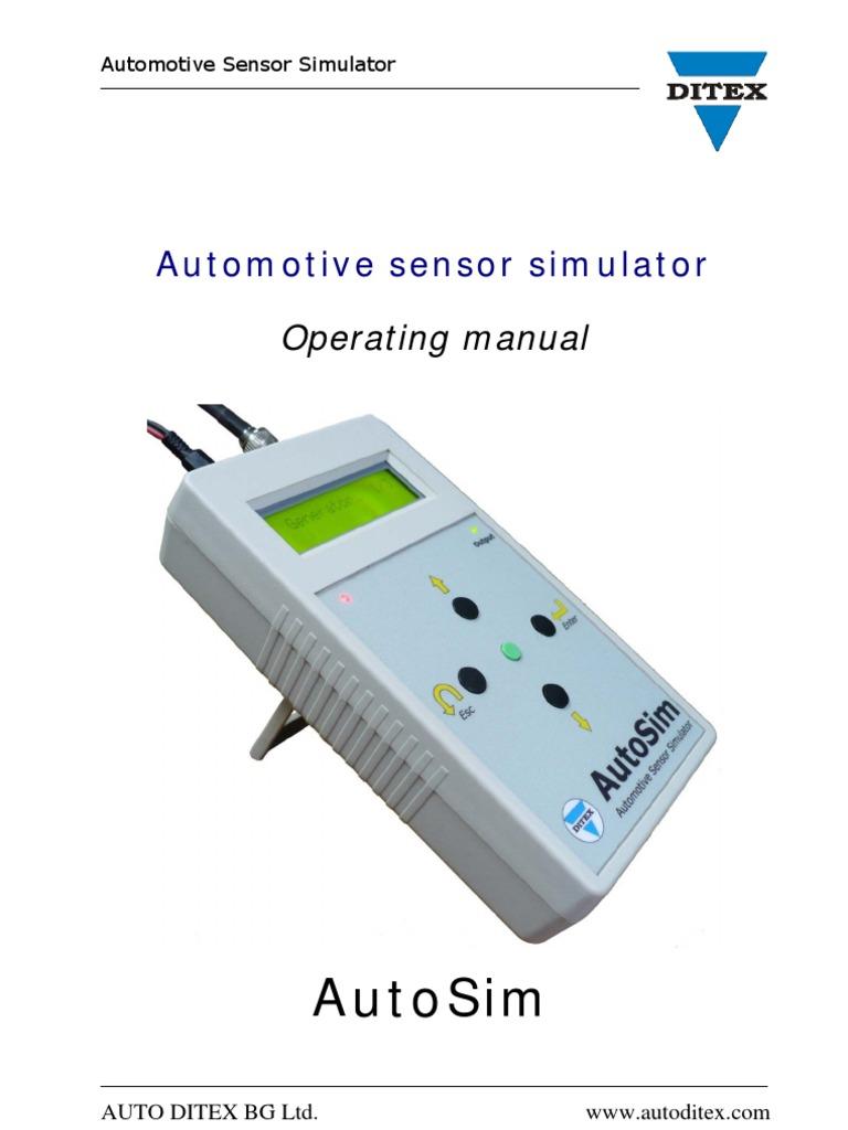 Autosim Manual Eng Frequency Amplitude Oxygen Sensor Simulator