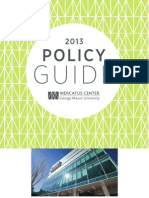 The 2013 Mercatus Policy Guide