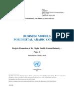 BUSINESS MODELS FOR DIGITAL ARABIC CONTENT