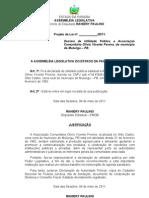 Projeto de Lei N° 180.2011-Associação Olivio Vicente Pereira