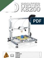 Velleman k8200 Printer Manual