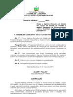 Projeto de Lei N° 60.2011- Obriga a Agência Executiva de Gestão das Águas do Estado da Paraíba a realizar Campanha de Esclarecimentos sobre a Qualidade da Água e dá outras providências.