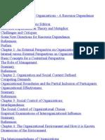 The External Control of Organization.