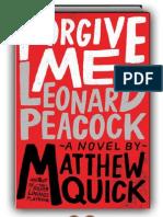 Forgive Me, Leonard Peacock by Matthew Quick (SAMPLE)