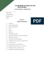 ESQUEMA DE INFORME PRÁCTICA PRE PROFESIONAL