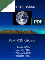 Bahan OSN Kebumian (presentasi)