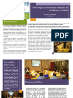 Boletin para miembros y amigos de REDICA sobre el Taller Regional sobre Inundaciones Urbanas